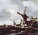 Jacob van Ruisdael - Landscape with Windmills near Haarlem