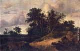 Jacob van Ruisdael - Landscape with a House in the Grove