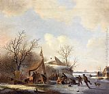 Jacobus Van Der Stok - Figures on the Ice