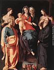 Jacopo Pontormo - Madonna and Child with St Anne and Other Saints