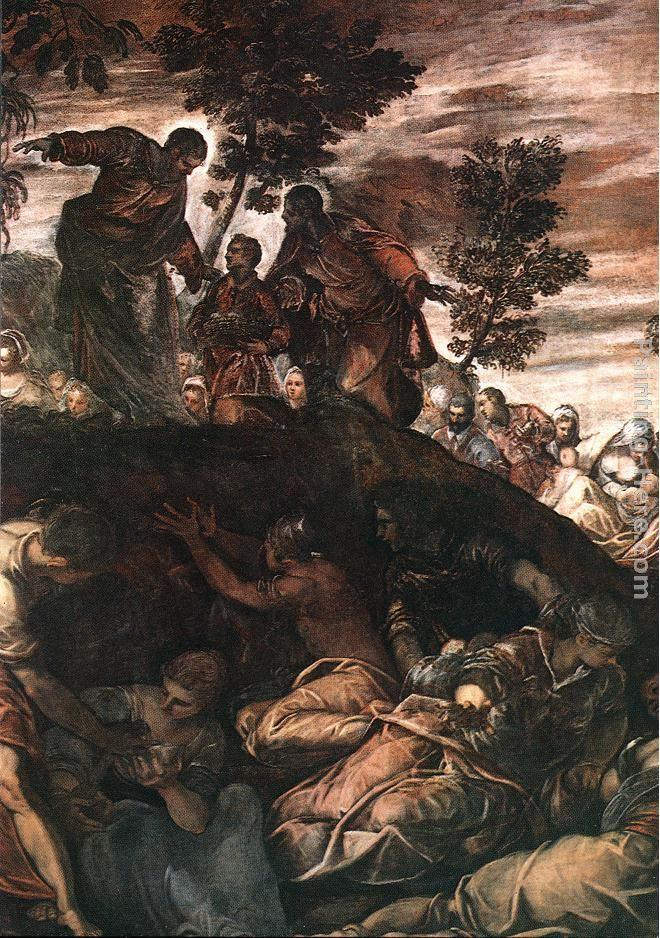 Jacopo robusti tintoretto the miracle of the loaves and for Miracle of the loaves and fishes