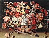 Jacques Linard - Basket of Flowers