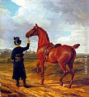 Jacques-Laurent Agasse - Lord Rivers' Groom Leading a Chestnut Hunter towards a Coursing Party in Hampshire