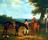 Jacques-Laurent Agasse - Two Hunters with a Groom