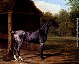 Jacques-Laurent Agasse - lord Rivers' Roan mare In A Landscape