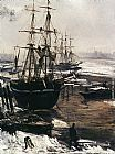 James Abbott Mcneill Whistler Wall Art - The Thames in Ice