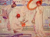 James Abbott Mcneill Whistler Wall Art - The White Symphony Three Girls