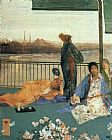 James Abbott Mcneill Whistler Wall Art - Variations in Flesh Colour and Green The Balcony