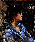 James Jebusa Shannon - Young Woman In Blue -- Miss H. Strom