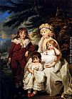 James Ward - Portrait Of The Hon. Juliana Talbot, Mrs Michael Bryan (1759-1801), With Her Children Henry, Maria And Elizabeth
