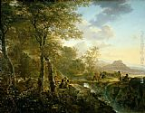 Famous Artist Paintings - Italian Landscape with Artist