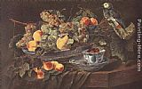 Jan Fyt - Still-life with Fruits and Parrot