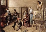 Jan Miense Molenaer Painter in His Studio, Painting a Musical Company painting