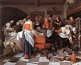 Jan Steen - Celebrating the Birth