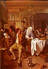 Jan Steen - Interior Of A Tavern