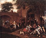 Jan Steen - Leaving the Tavern