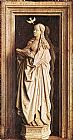 Jan Van Eyck Canvas Paintings - Annunciation