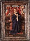 Jan Van Eyck Canvas Paintings - Madonna and Child at the Fountain