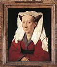 Van Canvas Paintings - Portrait of Margareta van Eyck
