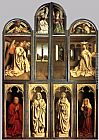 Famous Altarpiece Paintings - The Ghent Altarpiece (wings closed)