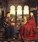 Jan Van Eyck Wall Art - The Virgin of Chancellor Rolin