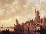 Jan van Goyen - River Landscape with a Windmill and a Ruined Castle