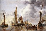 Jan van de Capelle - The State Barge Saluted by the Home Fleet