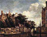 Jan van der Heyden - The Martelaarsgracht in Amsterdam