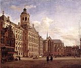 Jan van der Heyden - The New Town Hall in Amsterdam