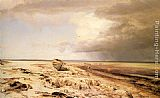 Janus Andreas Bartholin La Cour - Deserted Boat on a Beach
