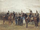 Jean Baptiste Edouard Detaille A French Cavalry Officer Guarding Captured Bavarian Soldiers painting