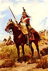 Jean Baptiste Edouard Detaille A Rank Soldier of the 12th Dragon Regiment en vedette painting