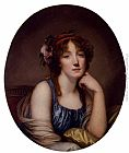 Jean Baptiste Greuze - Portrait Of A Young Woman, Said To Be The Artist's Daughter