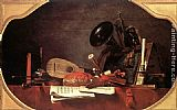 Jean Baptiste Simeon Chardin Canvas Paintings - Attributes of Music