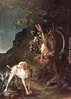 Jean Baptiste Simeon Chardin Canvas Paintings - Game Still-Life with Hunting Dog