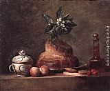 Jean Baptiste Simeon Chardin Canvas Paintings - La Brioche