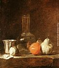 Fruit Wall Art - Still Life with Carafe, Silver Goblet and Fruit
