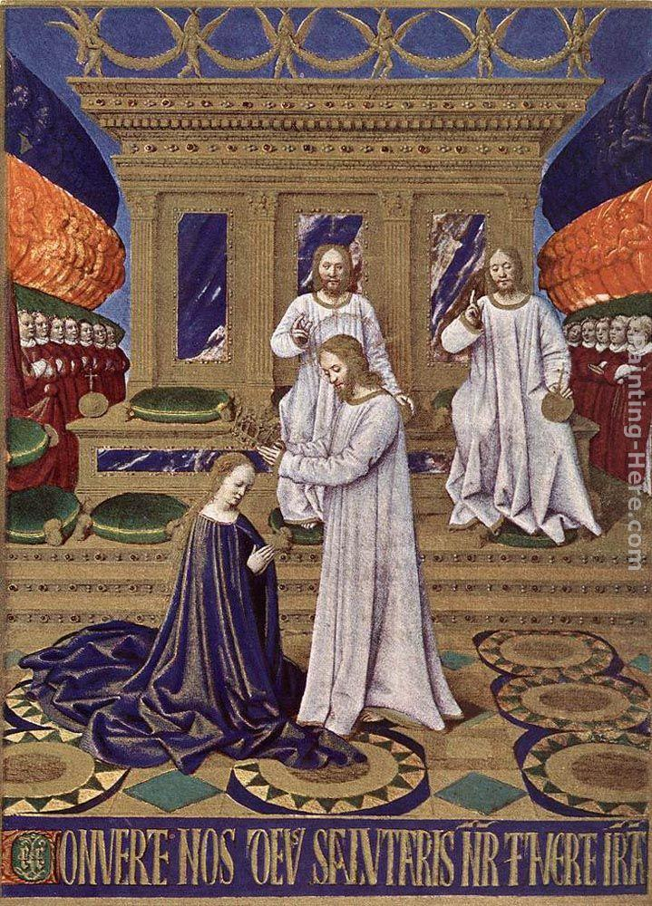 Jean Fouquet The Coronation of the Virgin