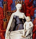 Jean Fouquet - Madonna And Child (panel of Melun Diptych)