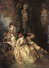 Jean-Antoine Watteau - Harlequin and Columbine
