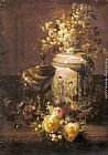 Jean-Baptiste Robie - Still Life With Japanese Vase And Flowers