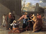 Jean-Germain Drouais - The Woman of Canaan at the Feet of Christ