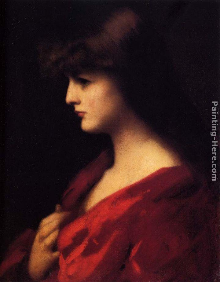 Jean-Jacques Henner Study Of A Woman In Red