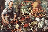 Joachim Beuckelaer - Market Woman with Fruit, Vegetables and Poultry