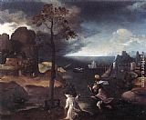 Joachim Patenier - St Christopher Bearing the Christ Child