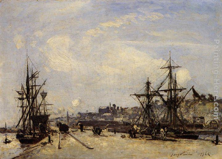 Johan Barthold Jongkind Honfleur, the Railroad Dock