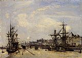 Johan Barthold Jongkind - Honfleur, the Railroad Dock