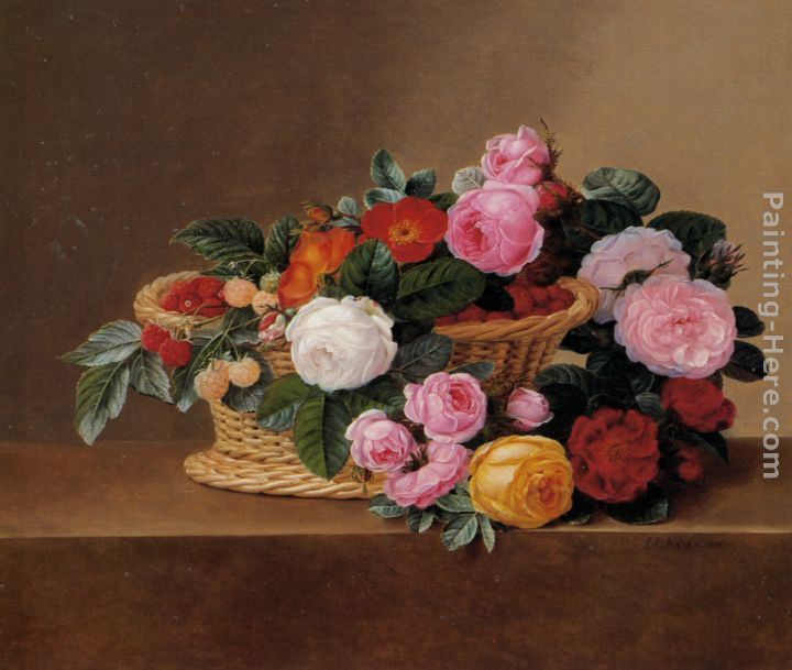 Johan Laurentz Jensen Basket of Roses