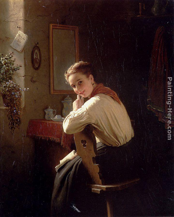 Johann Georg Meyer von Bremen An Interrupted Moment