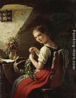 Johann Georg Meyer von Bremen - Making a Bouquet